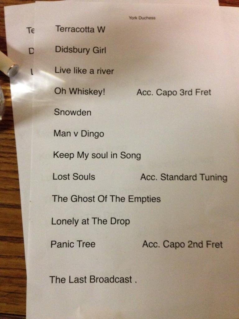 York Setlist